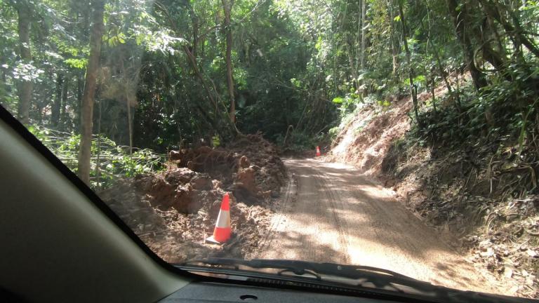road after storm