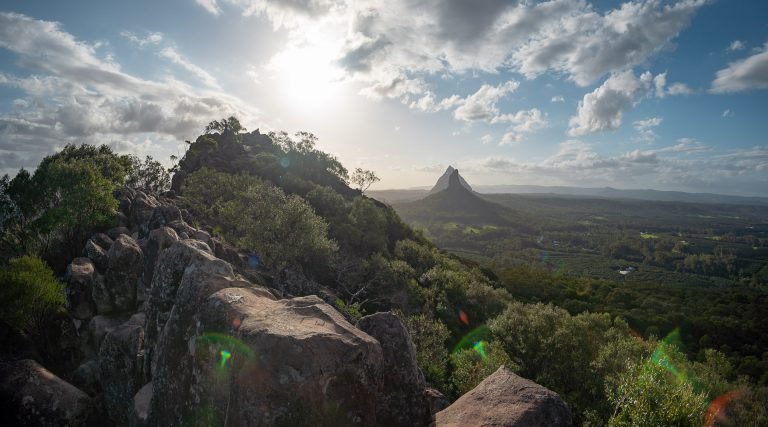Glasshouse Mountains at Mount Ngungun