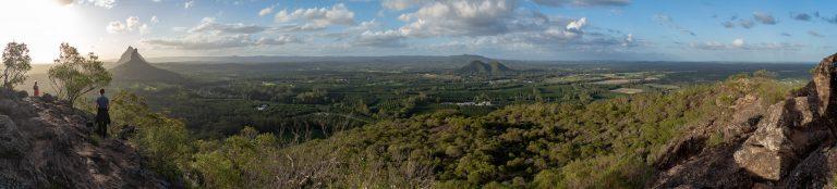 Glasshouse Mountains at Mount Ngungun