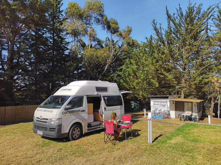 Campervan Camper gut für die Australienreise im Camper