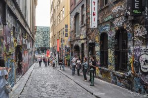 Graffiti on Hosier Lane Melbourne