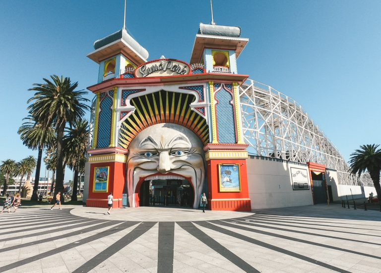 Entrance to Luna Park, St Kilda, Melbourne