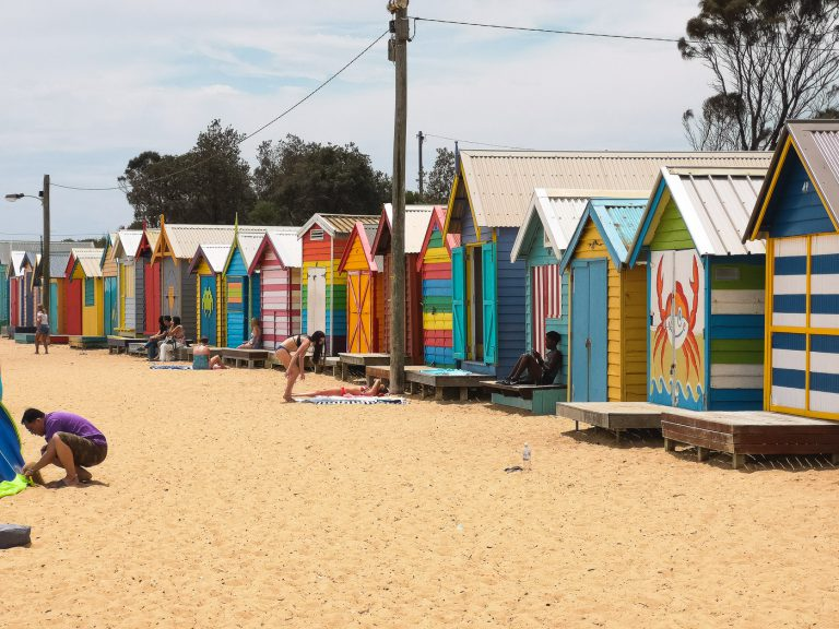 Beach Houses at Brighton Beach, St Kilda, Melbourne