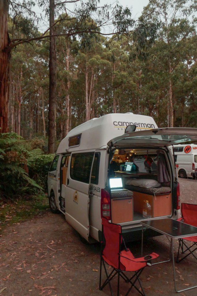 Big Hill Campground während Australienreise im Camper