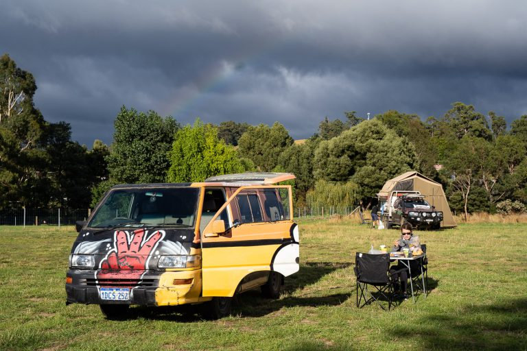 Stellplatz bei der Australienreise im Camper