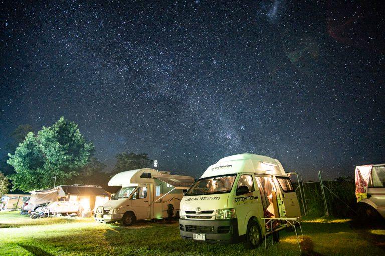 Sternenhimmel bei der Australienreise im Camper