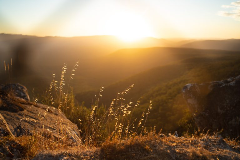 The Grampians Reeds lookout at Sunset